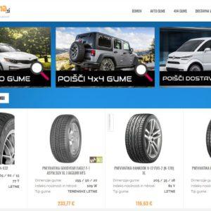 Prodamo utečeno spletno trgovino s pnevmatikami