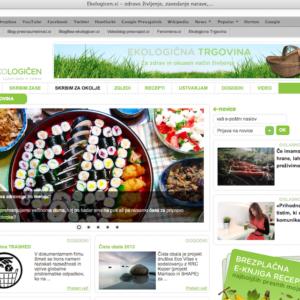 Prodam uveljavljen in medijsko prepoznaven spletni portal skupaj z blagovno znamko za ekološke izdelke