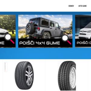Spletna stran za prodajo pnevmatik